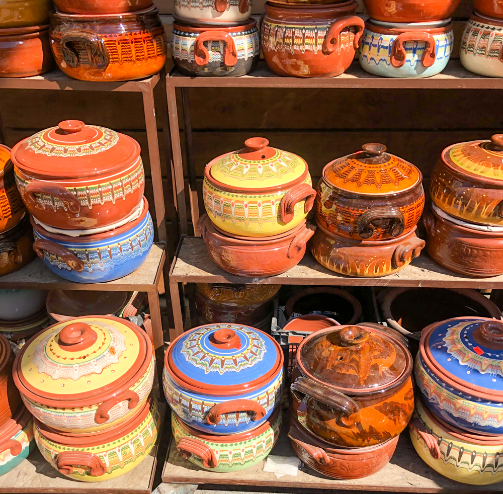 Women's Market pottery Sofia Bulgaria Europe