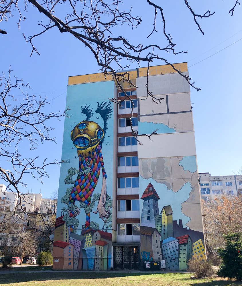 graffiti art Hadzhi Dimitar Sofia Bulgaria Europe