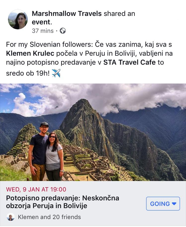 travel lecture Peru Bolivia