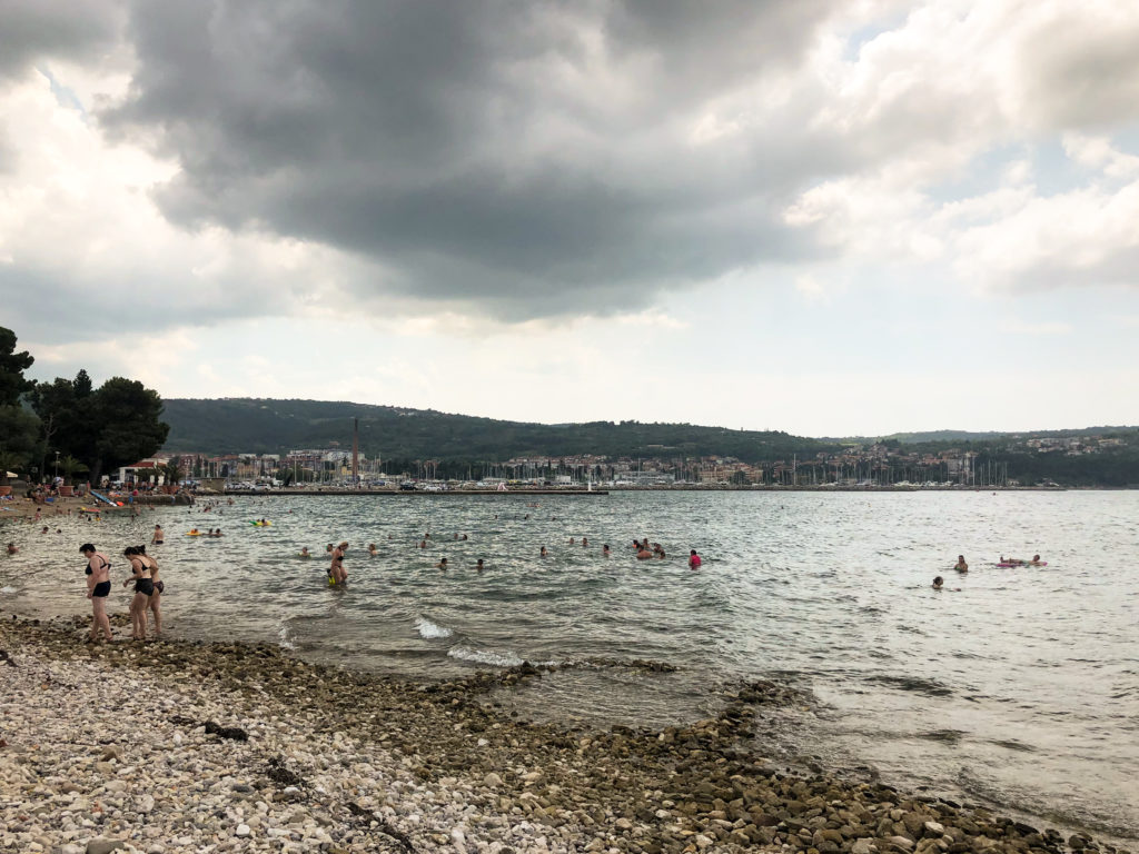 Izola beach Slovenia Europe