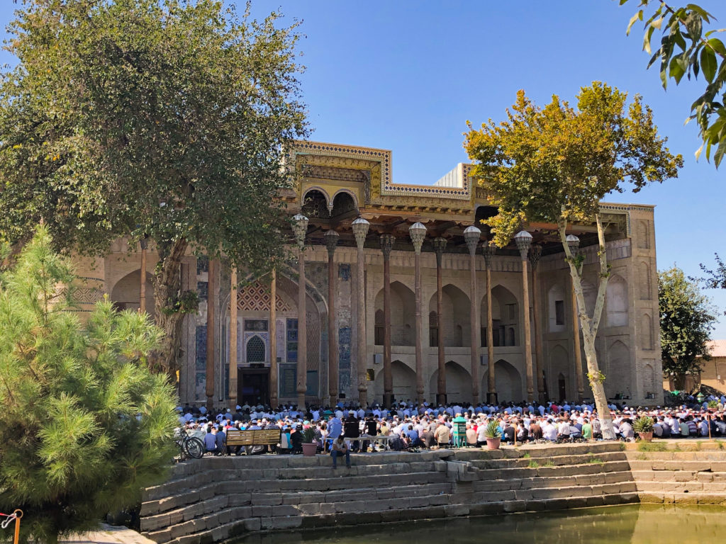 Bolo Hauz Mosque Bukhara Uzbekistan Central Asia