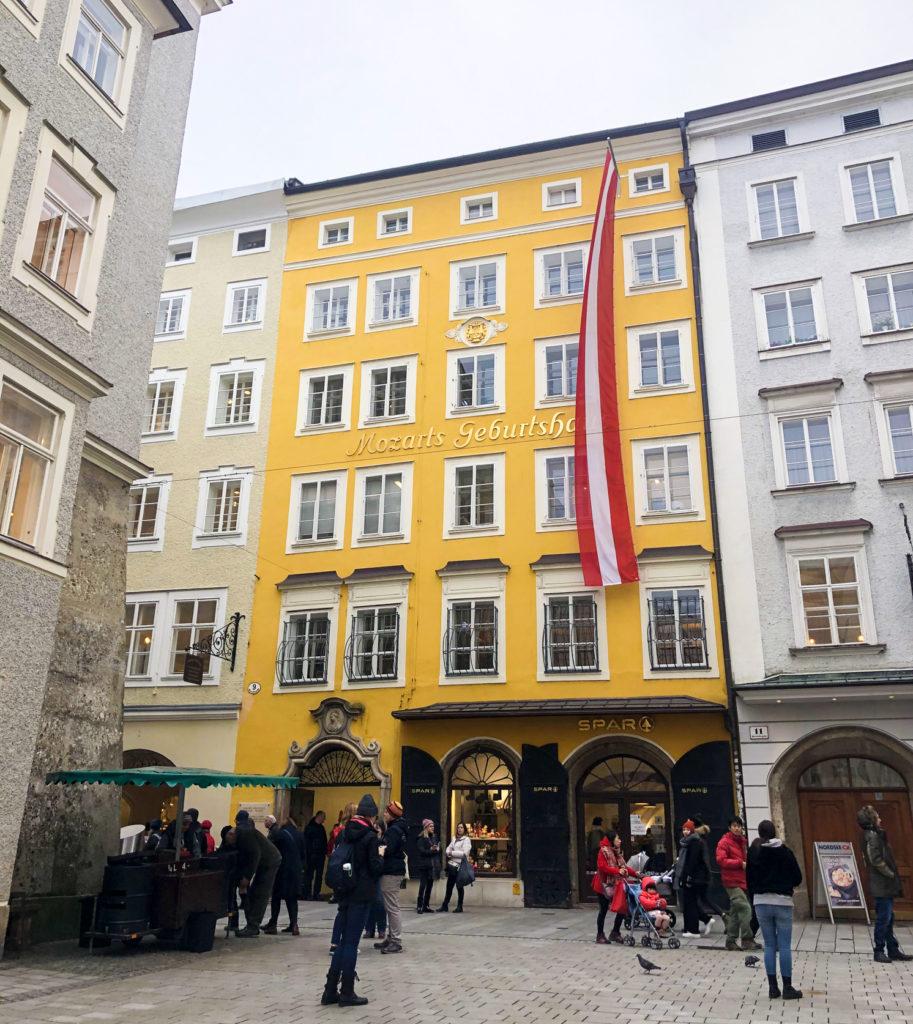 Mozart's Birthplace Salzburg Austria Europe