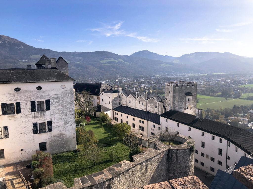 view from Hohensalzburg Fortress Salzburg Austria Europe