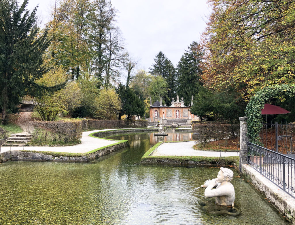Trick Fountains Hellbrunn Palace Salzburg Austria Europe