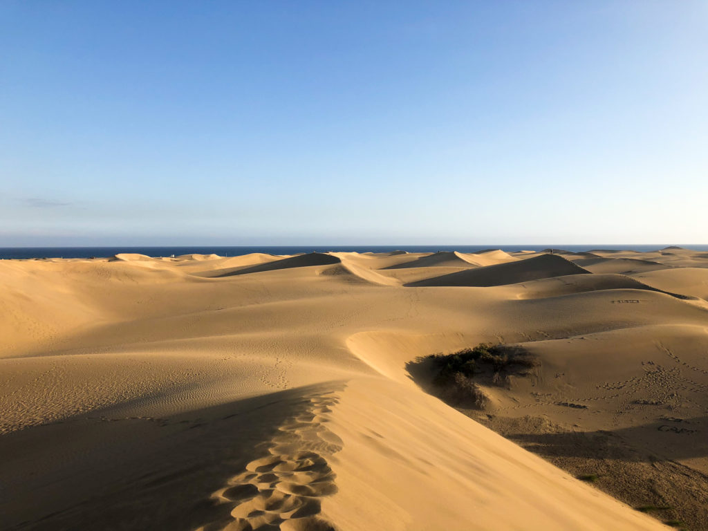 Travel Maspalomas sand dunes Gran Canaria Spain Europe
