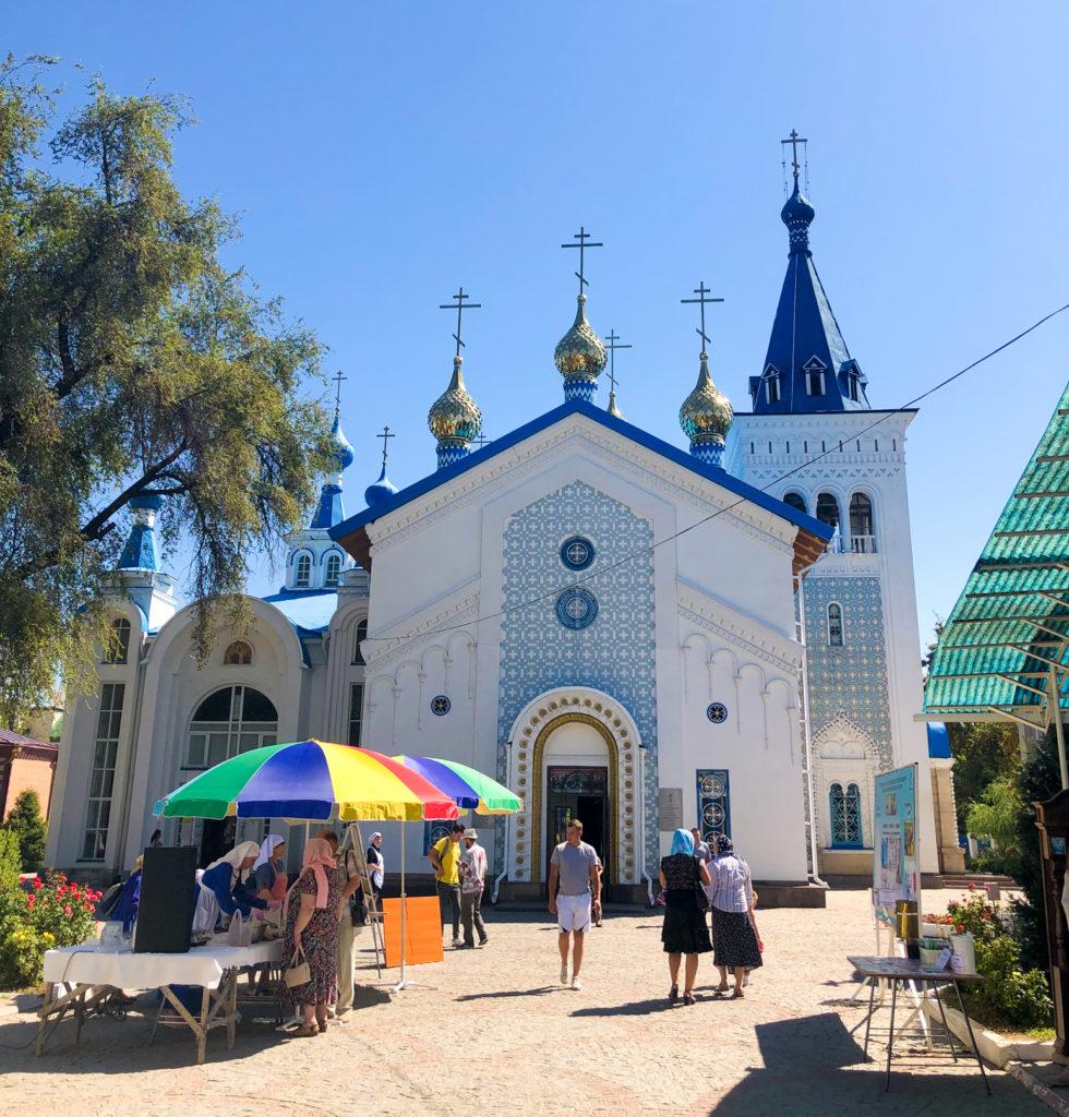 Russian church Soviet architecture Bishkek Kyrgyzstan Central Asia