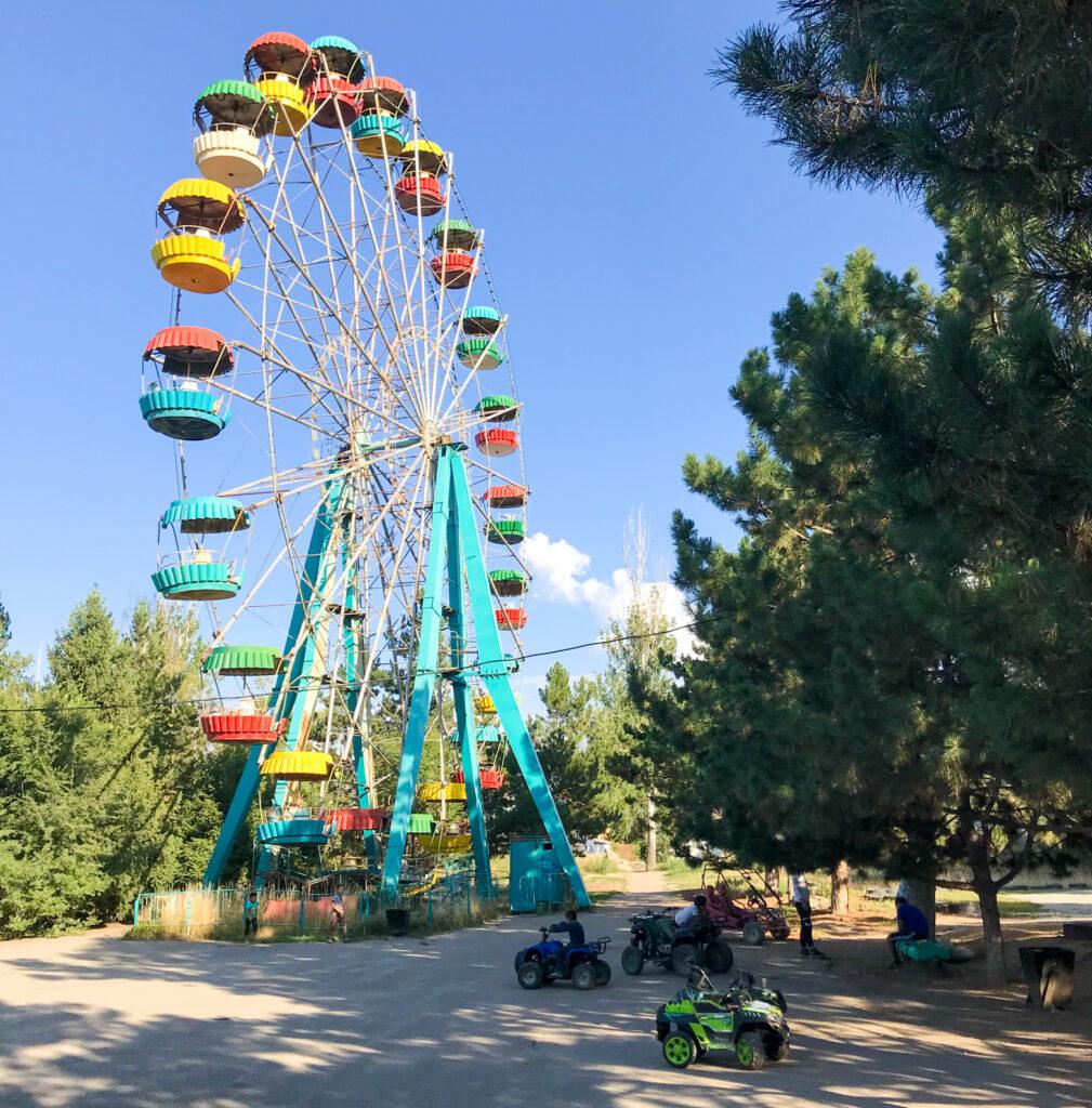 Abanoned Soviet amusement park Karakol Kyrgyzstan Central Asia