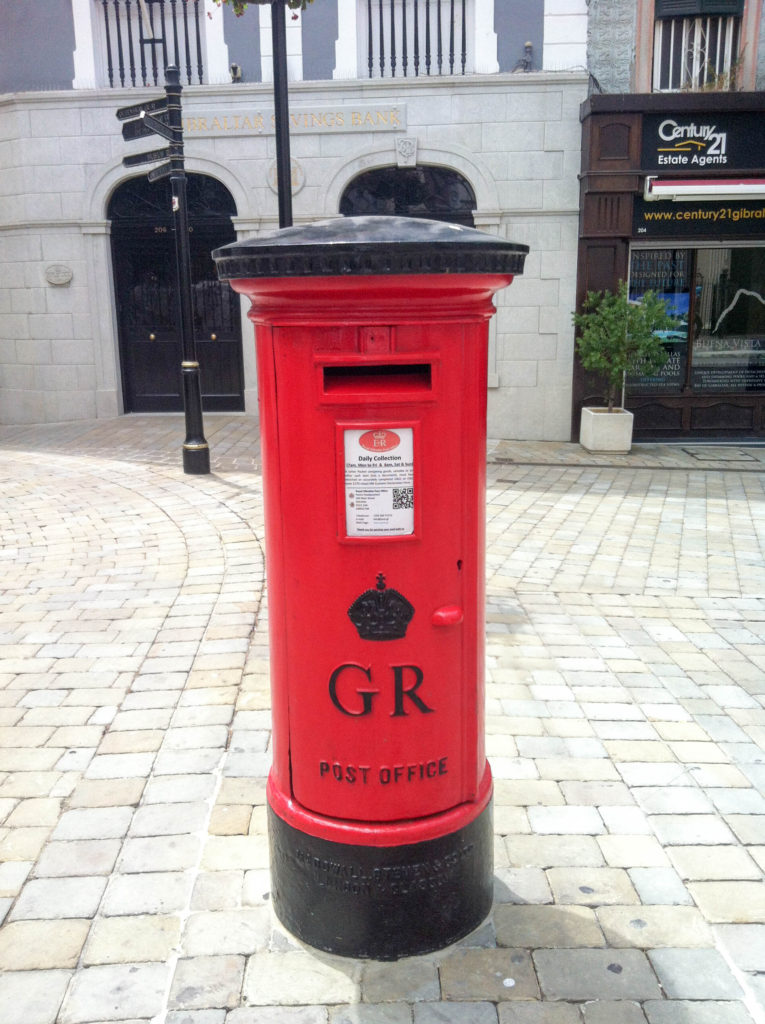 Gibraltar Great Britain United Kingdom post box