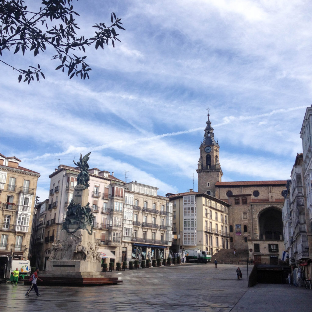 Vitoria Gasteiz capital Basque country Spain Plaza de la Virgen Blanca