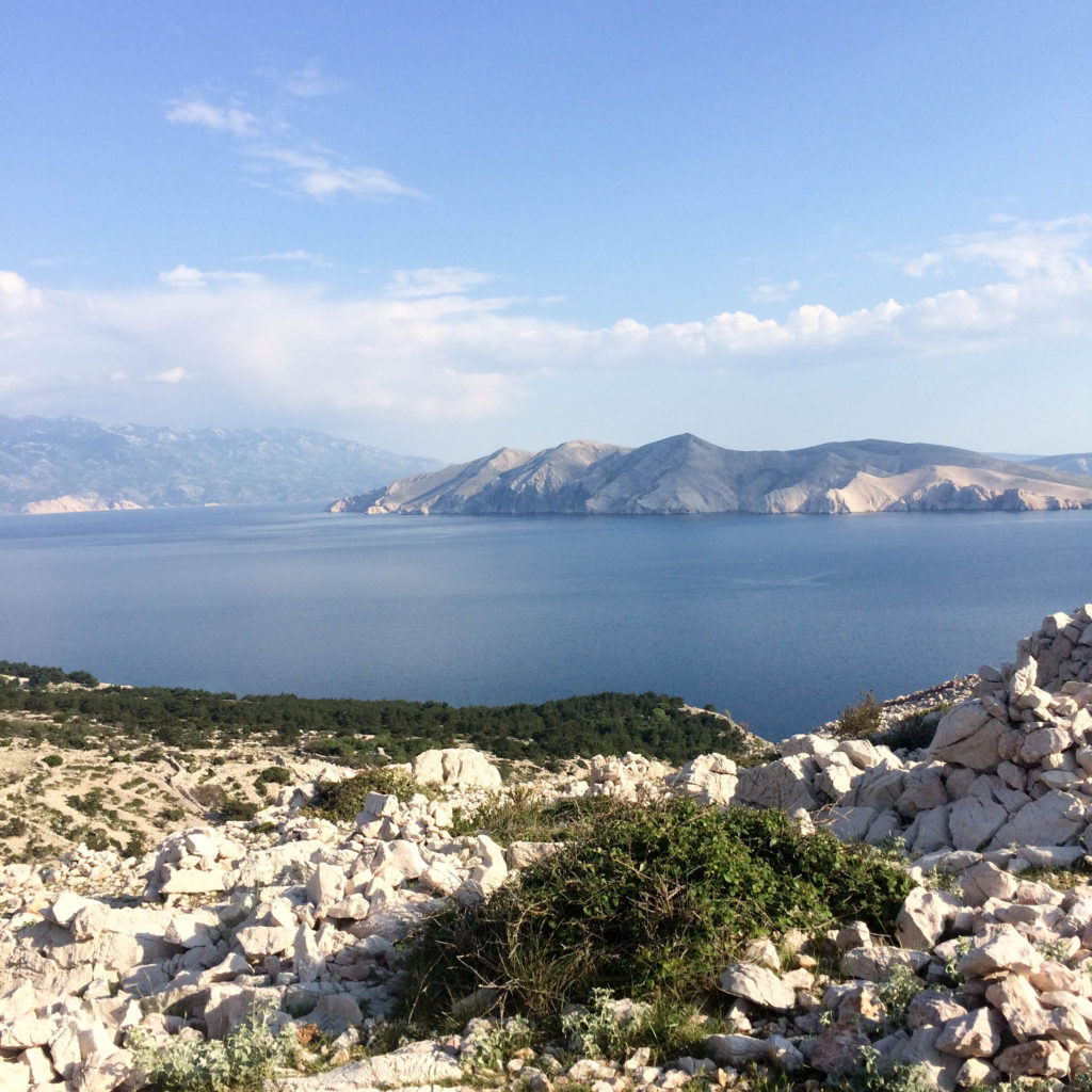 Baška island Krk Croatia walking tour