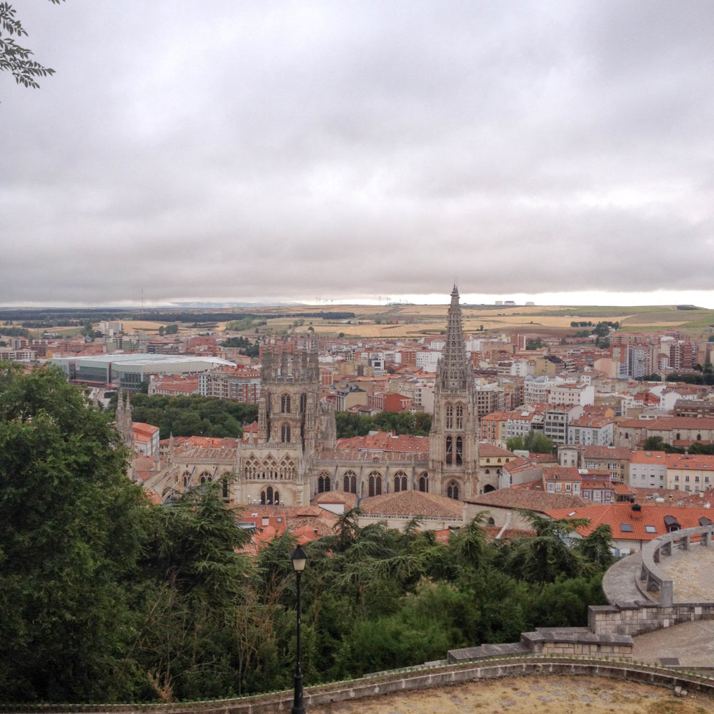 Burgos Castile and Leon Spain castle hill view cathedral