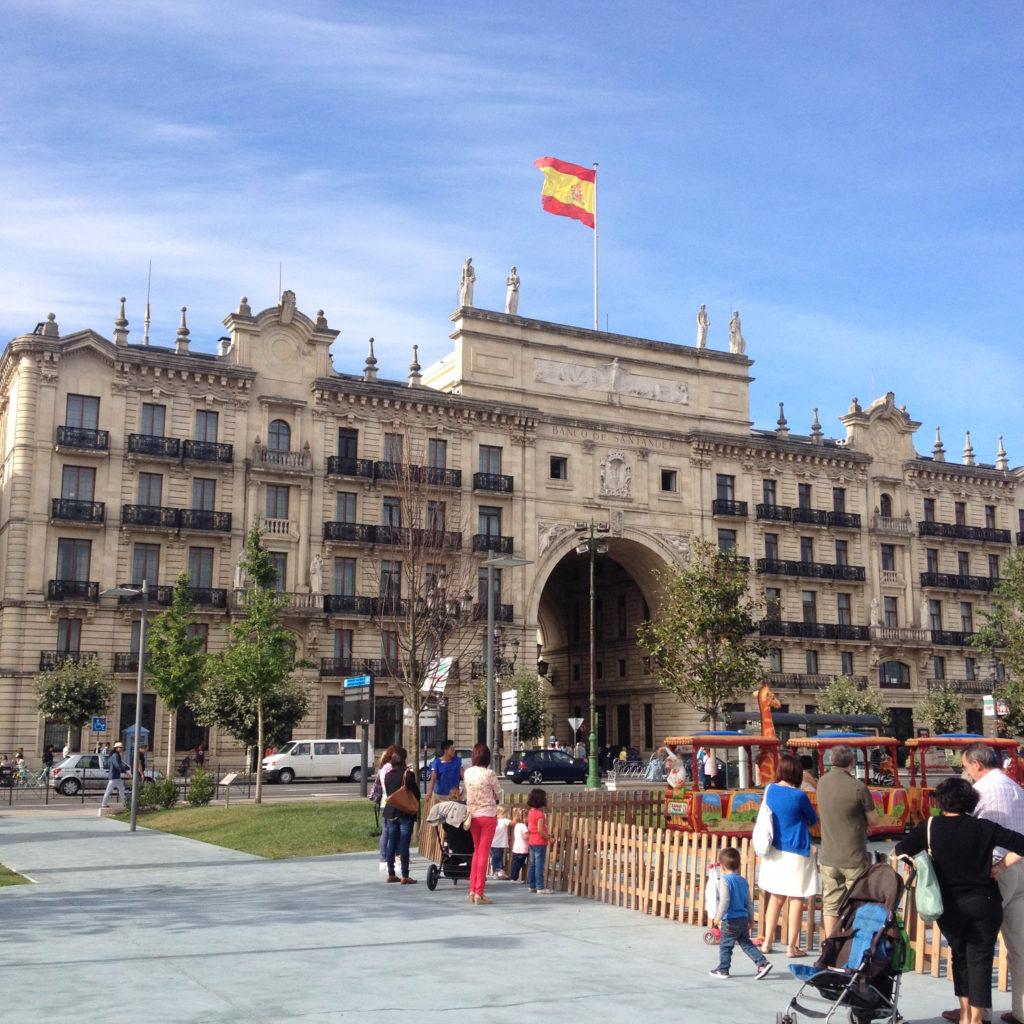 Santander Cantabria Spain bank