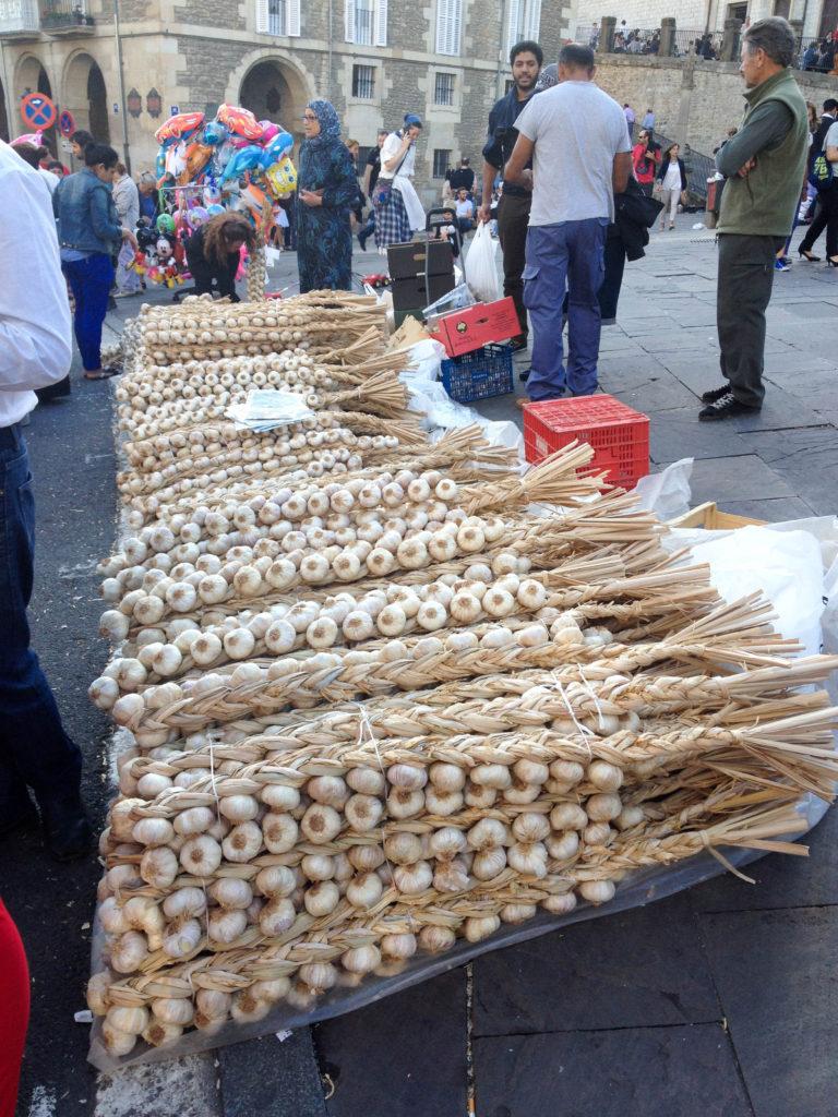 Vitoria Gasteiz festival la Día de Blusa y Neska capital Basque country Spain garlic