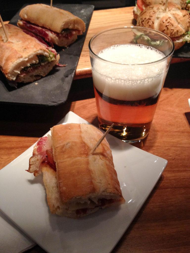 Vitoria Gasteiz capital Basque country Spain traditional food pintxos tapas beer