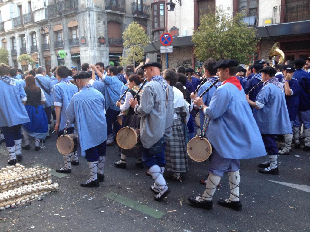 Vitoria Gasteiz festival la Día de Blusa y Neska capital Basque country Spain