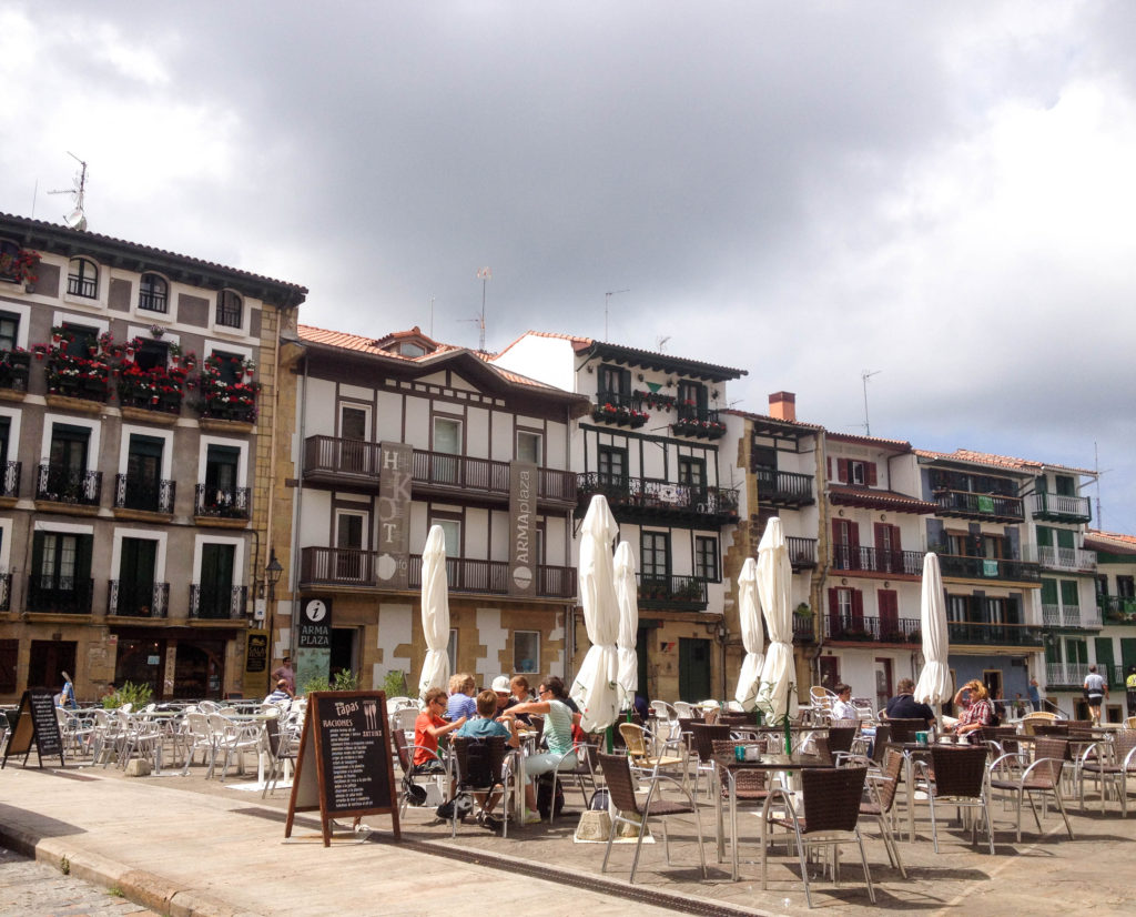 Hondarribia Bsque country Spain Plaza de Armas