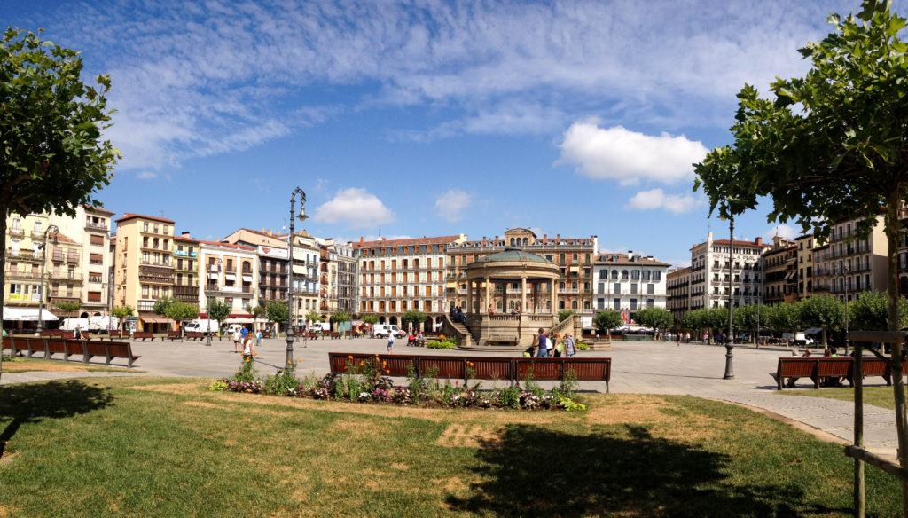 Pamplona Spain Navarre Plaza del Castillo