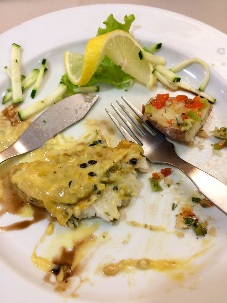 scabbardfish with passion fruit sauce fish typical food Madeira Portugal