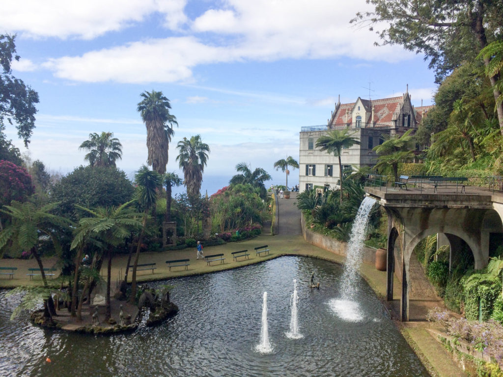 Monte Palace Tropical Gardens central lake Madeira Portugal