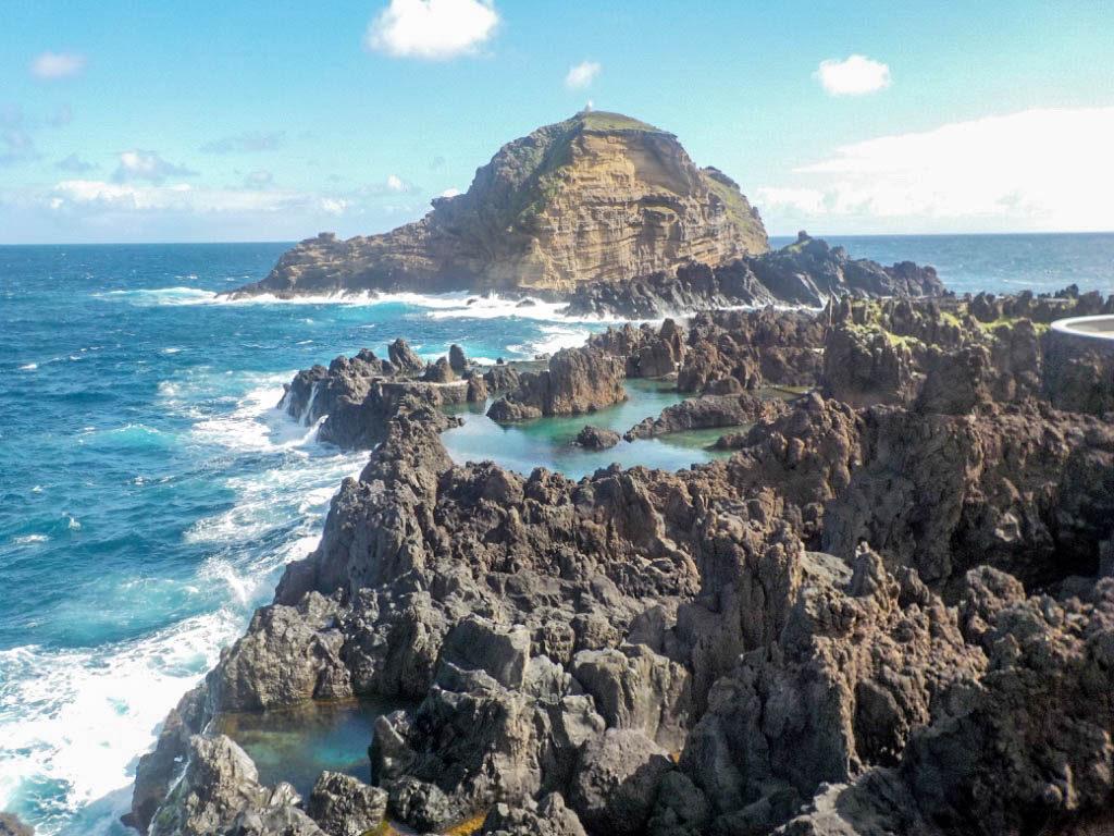 natural lava pools Porto Moniz Madeira Portugal