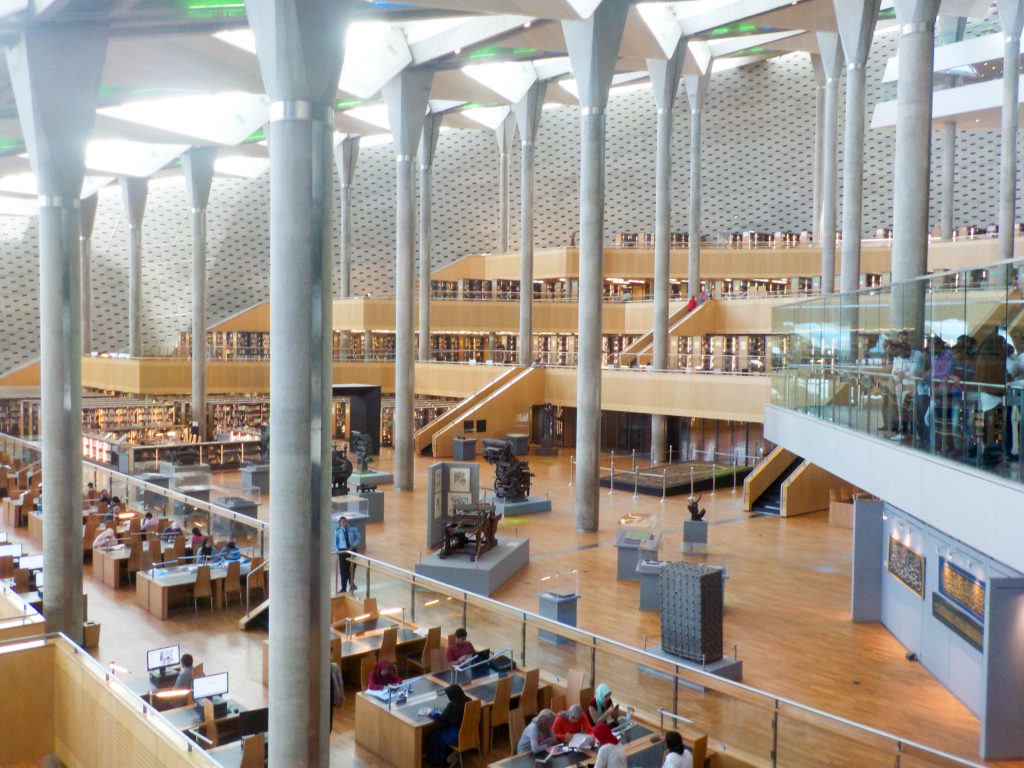 Biblioteca Alexandrina library Alexandria Egypt Africa reading space