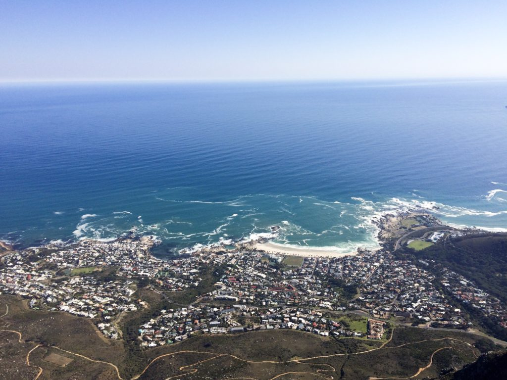 Table Mountain Cape Town South Africa Camps bay view