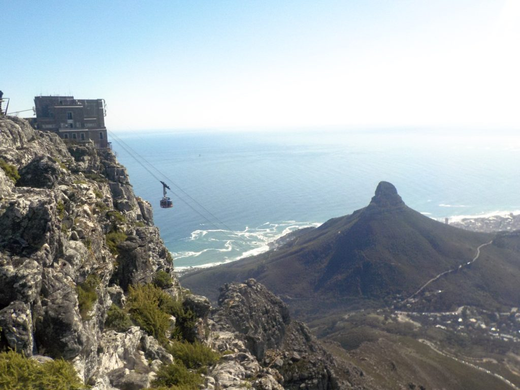 Table Mountain Cape Town South Africa cable car Lion's Head
