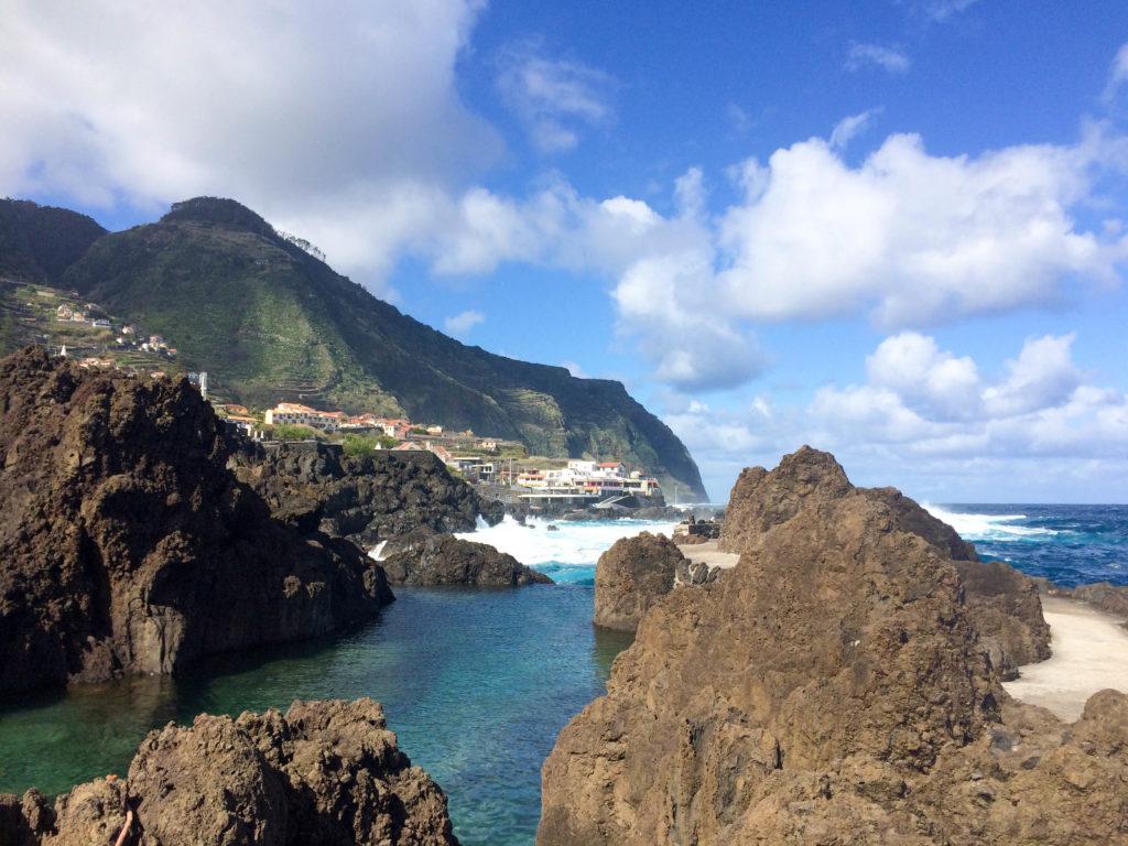 Madeira Portugal Europe island Porto Moniz natural lava pools Atlantic Ocean