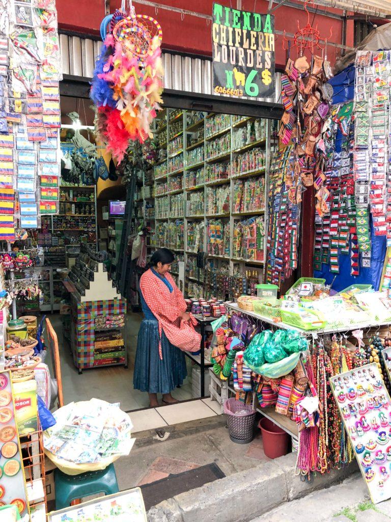 Witches' market Mercado de las Brujas La Paz Bolivia South America