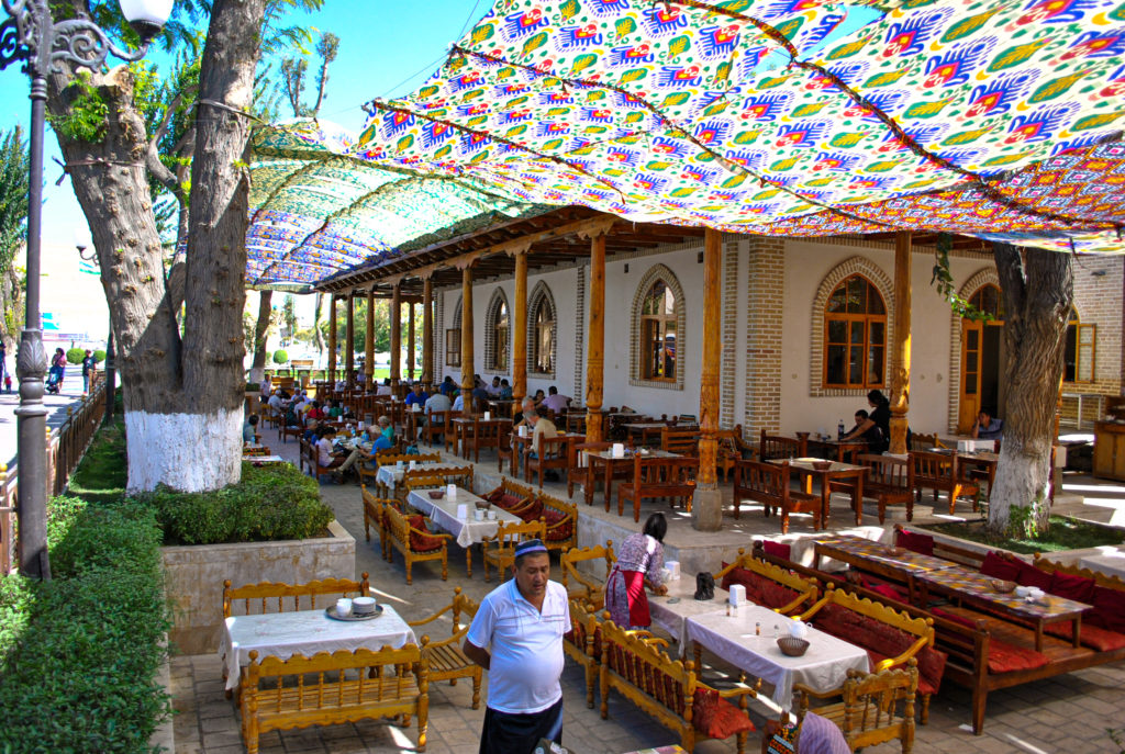 Bolo Hauz restaurant Bukhara Uzbekistan Central Asia