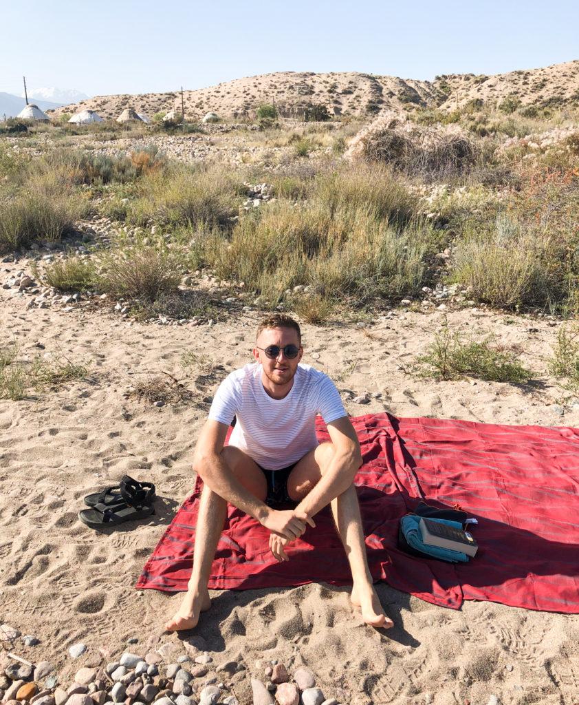 Issy Kul lake beach Bel'tam Yurt Camp Kyrgyzstan Central Asia Klemen Krulec