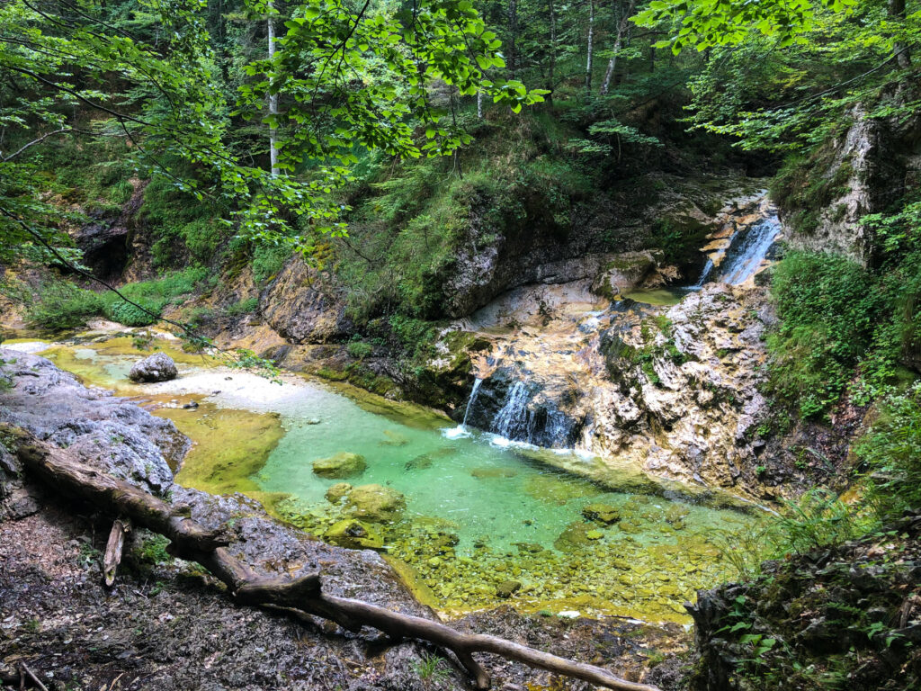 Zapotok waterfalls Slovenia Europe