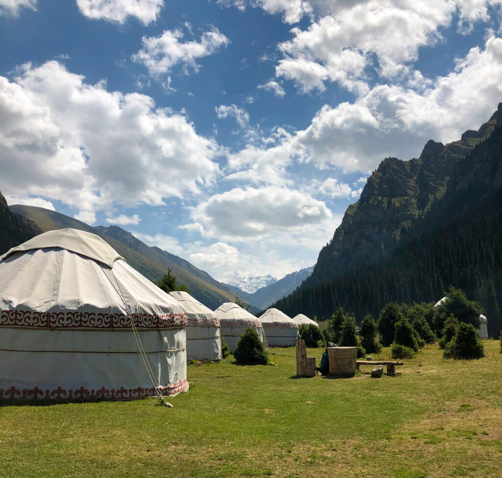 Yurts Altyn-Arashan Karakol Kyrgyzstan Central Asia